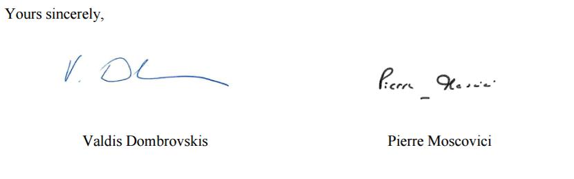 Carta assinatura