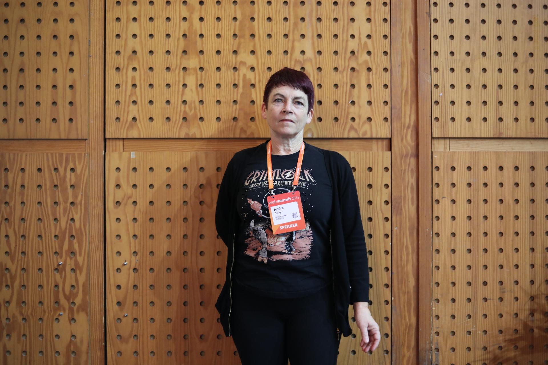 Andra Keay passou pelo Web Summit para partilhar a sua visão da robótica.