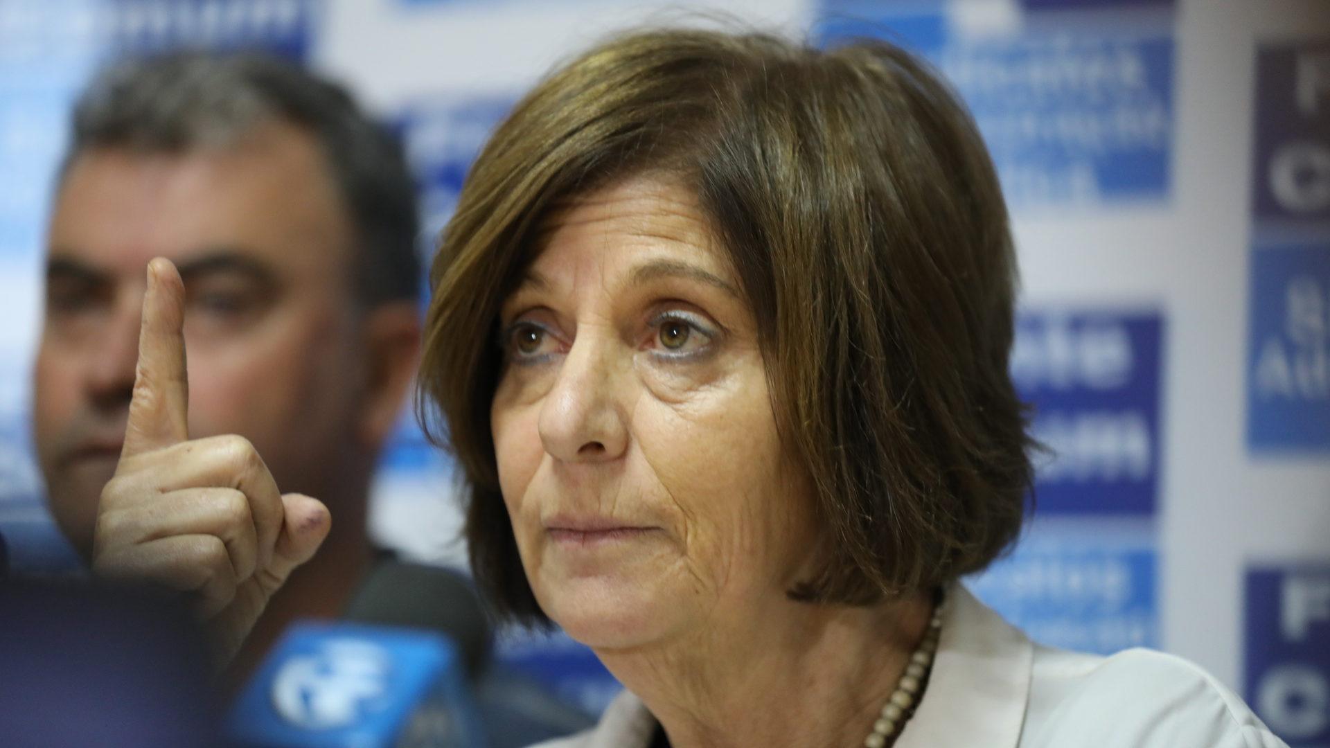 Ana Avoila, dirigente da Frente Comum.