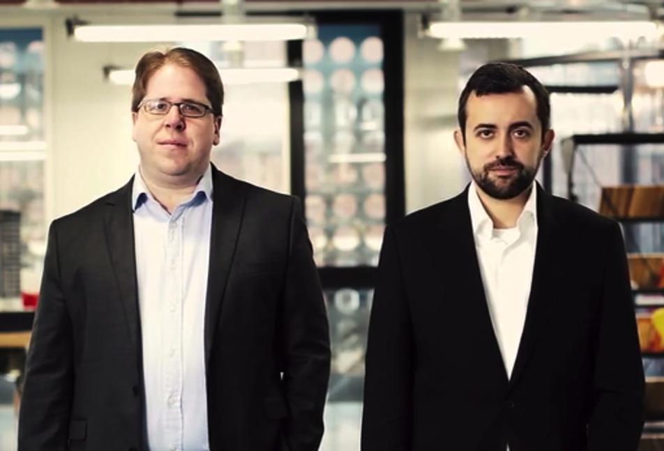 Jeff Lynn e Carlos Silva, CEO e co-fundador da Seedrs.