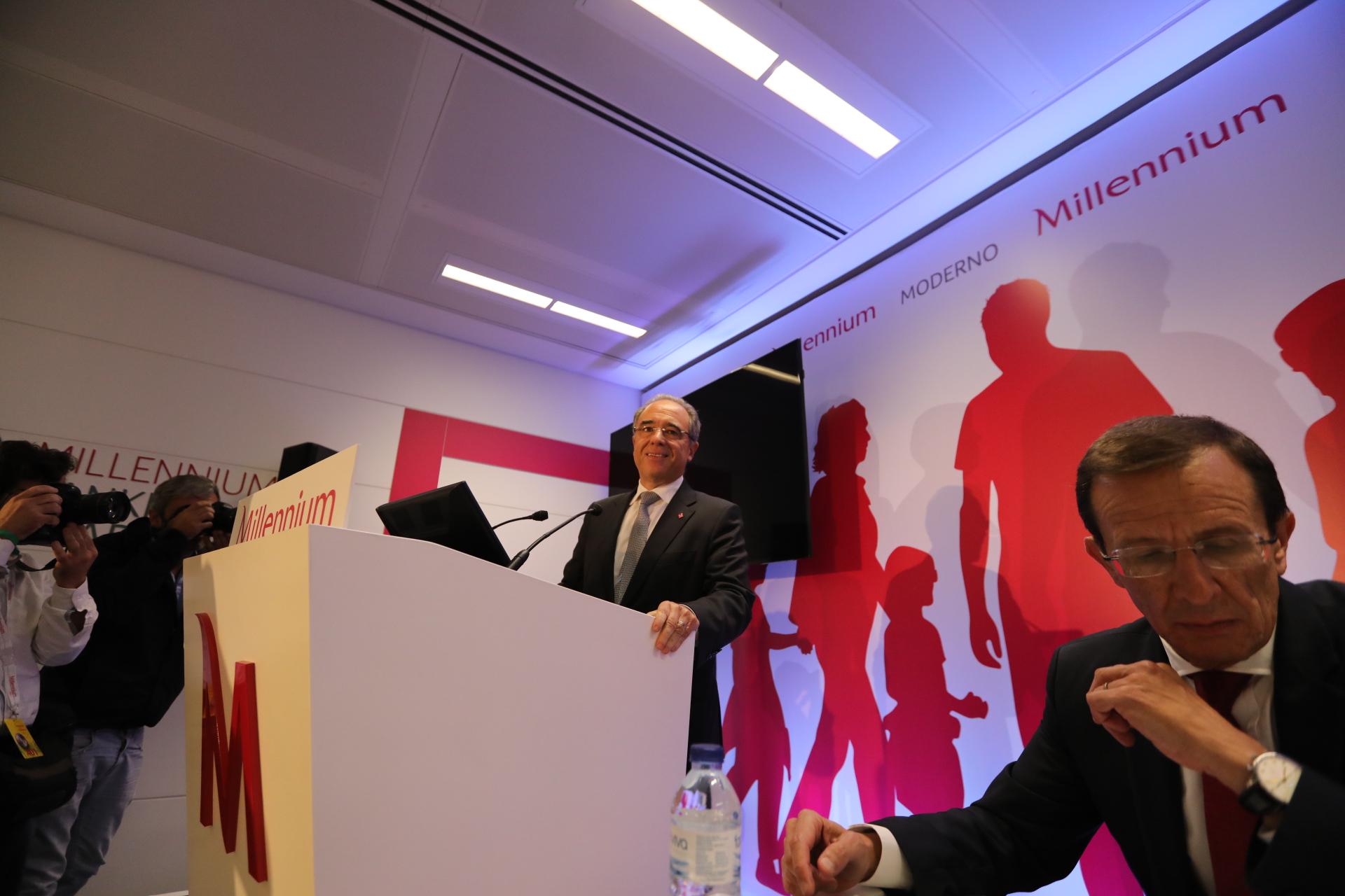 Nuno Amado, CEO do BCP, durante a apresentação dos resultados.