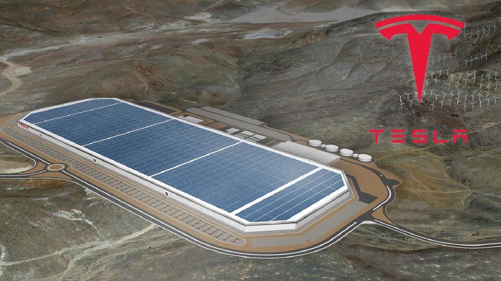 Imagem conceptual de como poderá ser a nova fábrica da Tesla