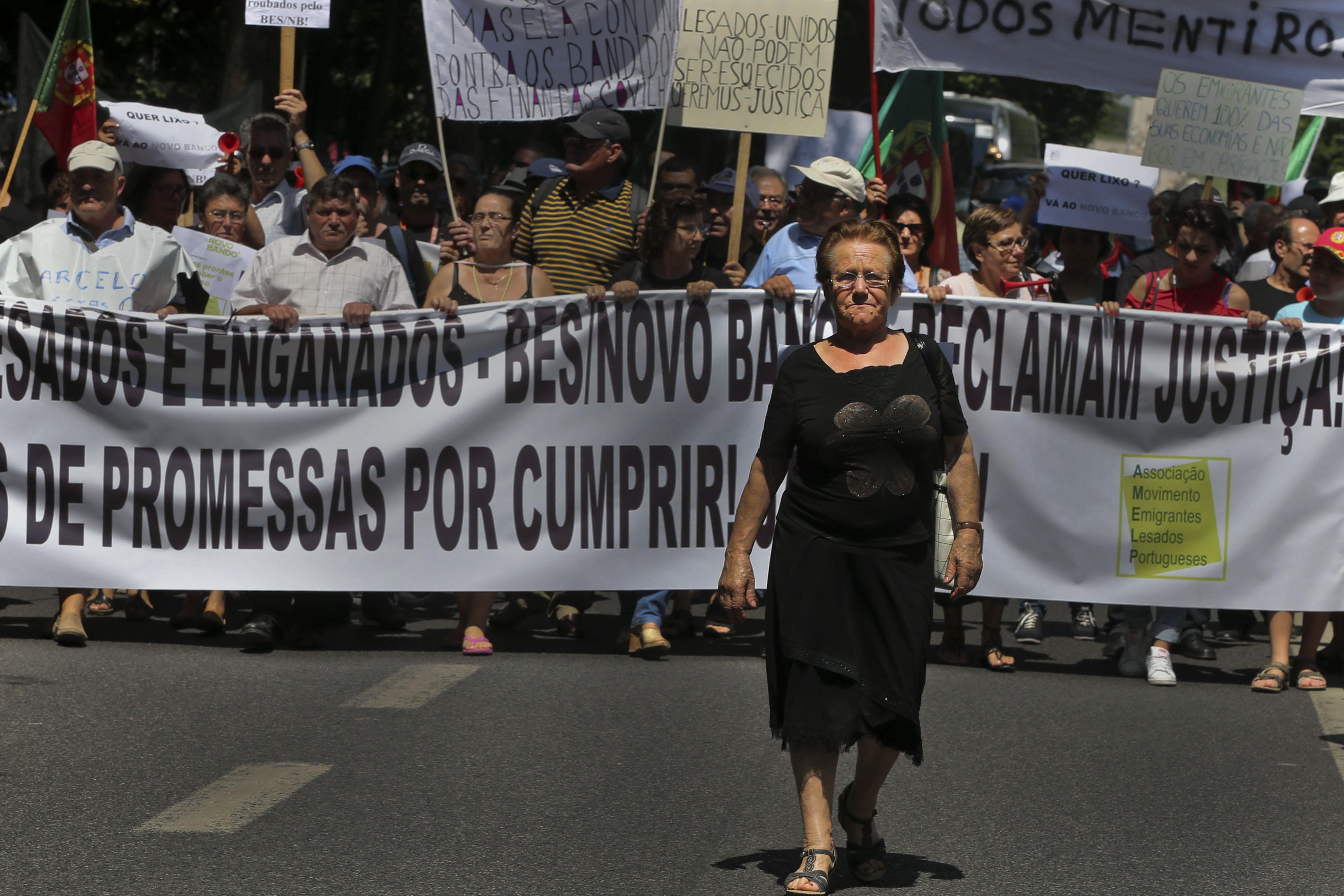 Manifestação de lesados do Banco Espírito Santo (BES).