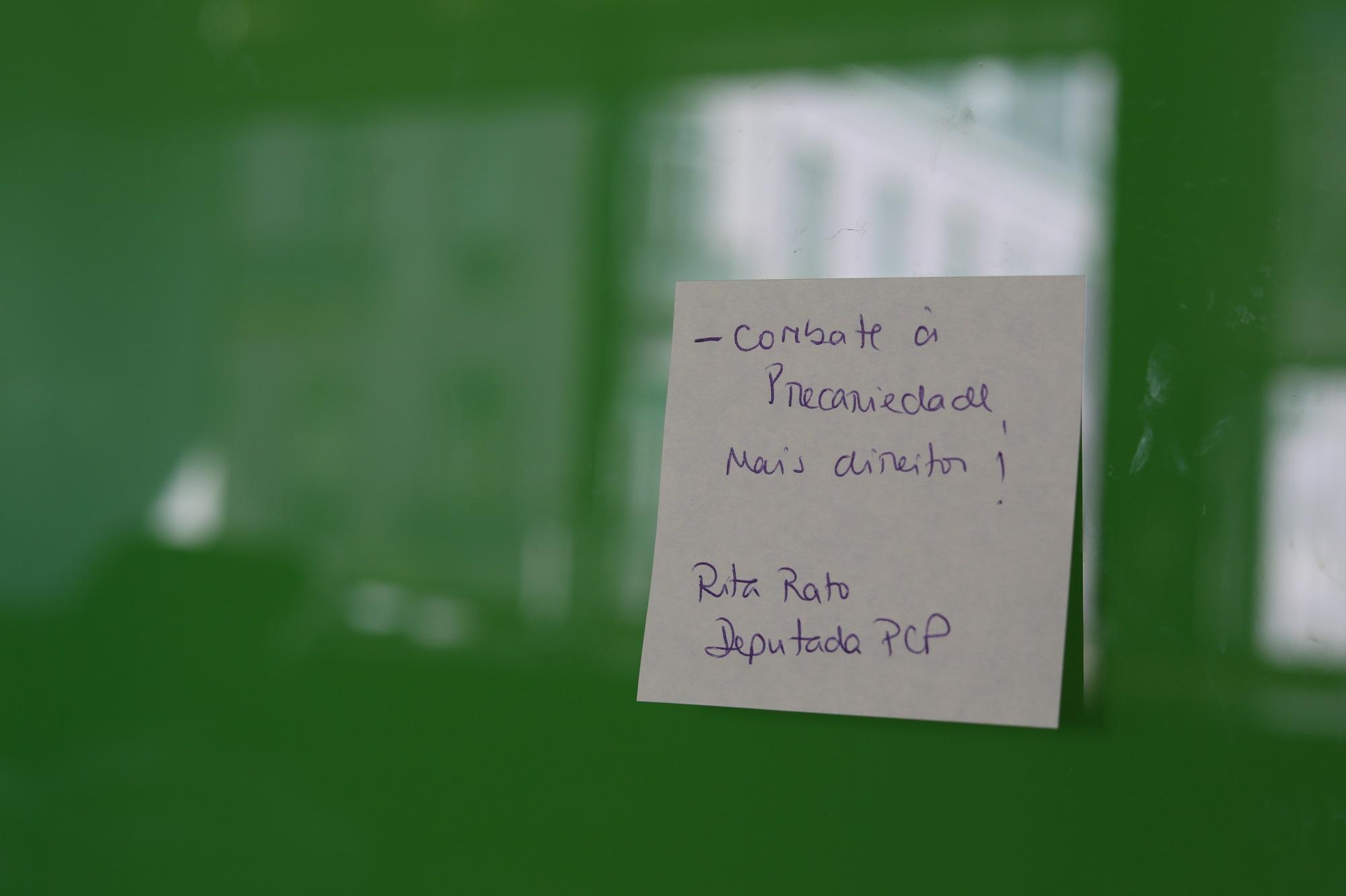 """Rita Rato: """"Combate à precariedade, mais direitos!"""""""