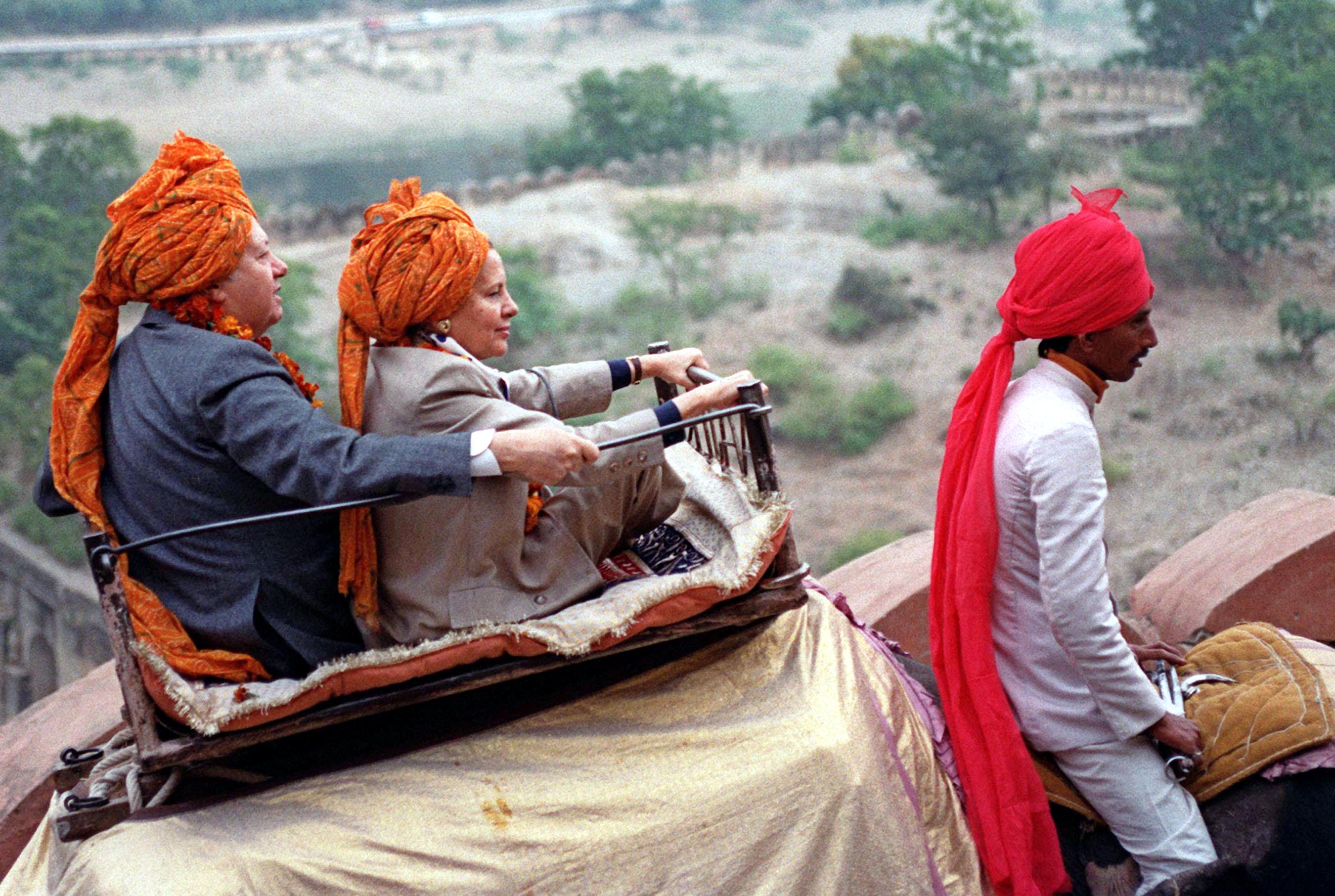 Mário Soares e Maria Barroso na Visita à India