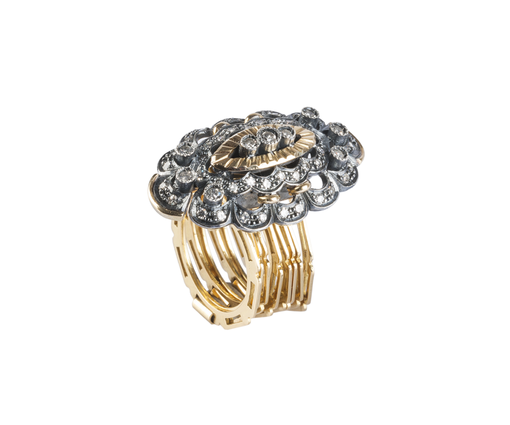 rare-jewellery_d-isabel-de-araguo-collection_handemade-ring-and-bracelet-yellow-gold-and-silver-and-diamonds_6-500oe%c2%bc_