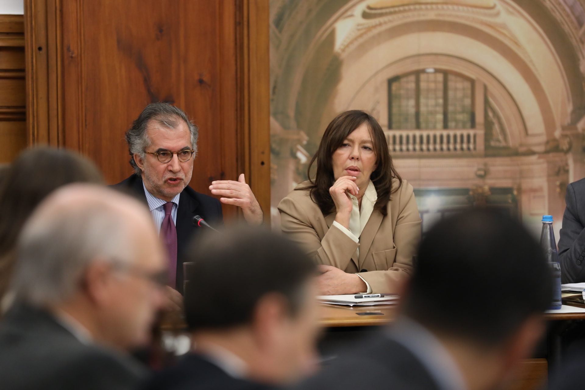António Domingues a ser ouvido no Parlamento.