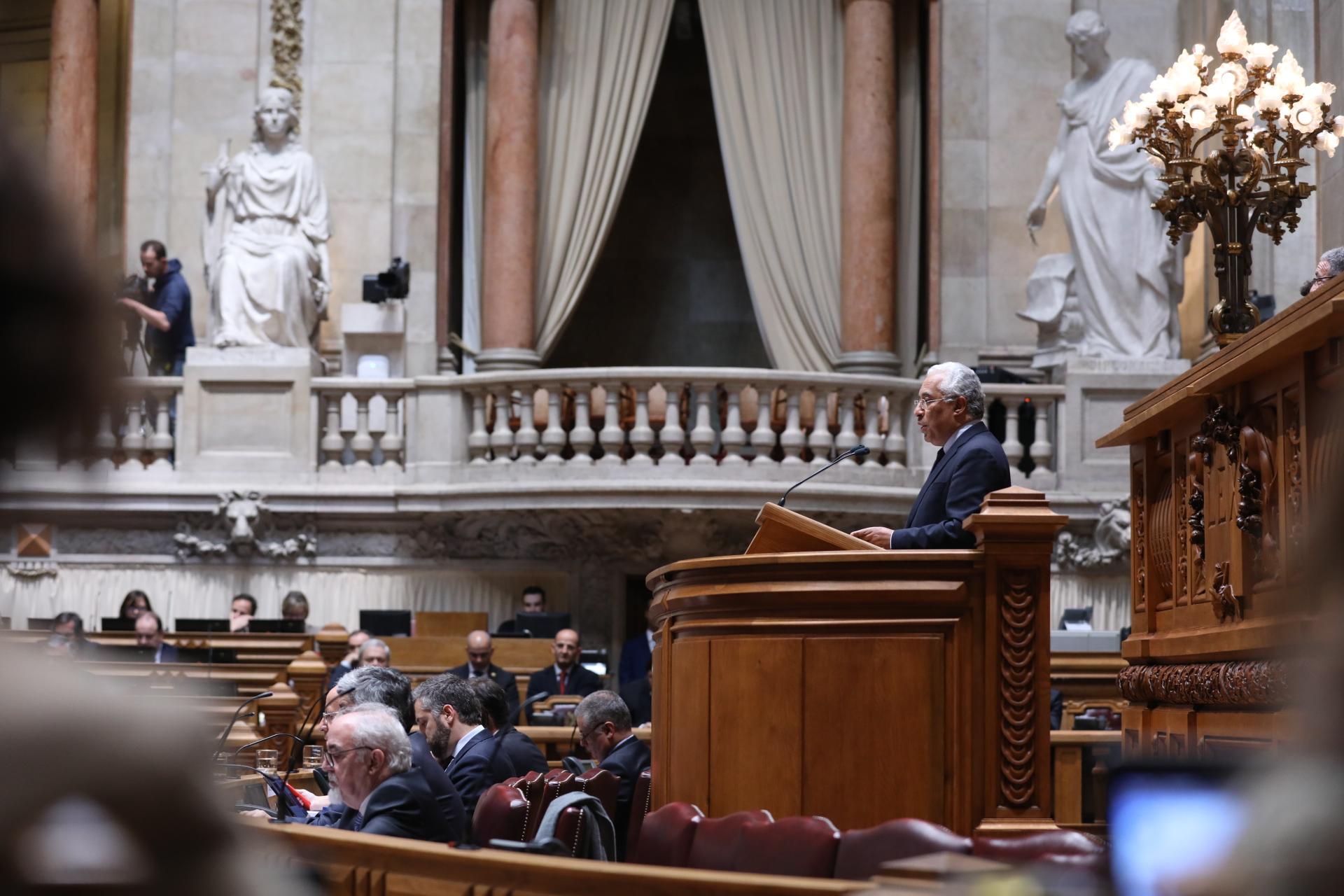 António Costa no debate quinzenal de 17 de janeiro de 2017.