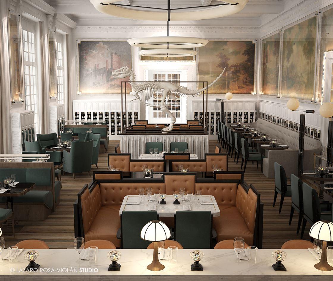 9ed55ff4e O Jncquoi Restaurant fica no primeiro piso. Lázaro Rosa-Violán Studio ...