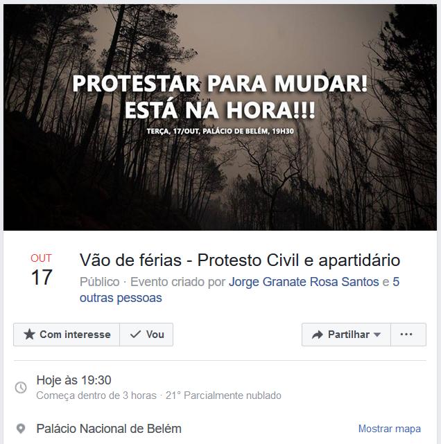 Vão de férias - Protesto Civil e apartidário