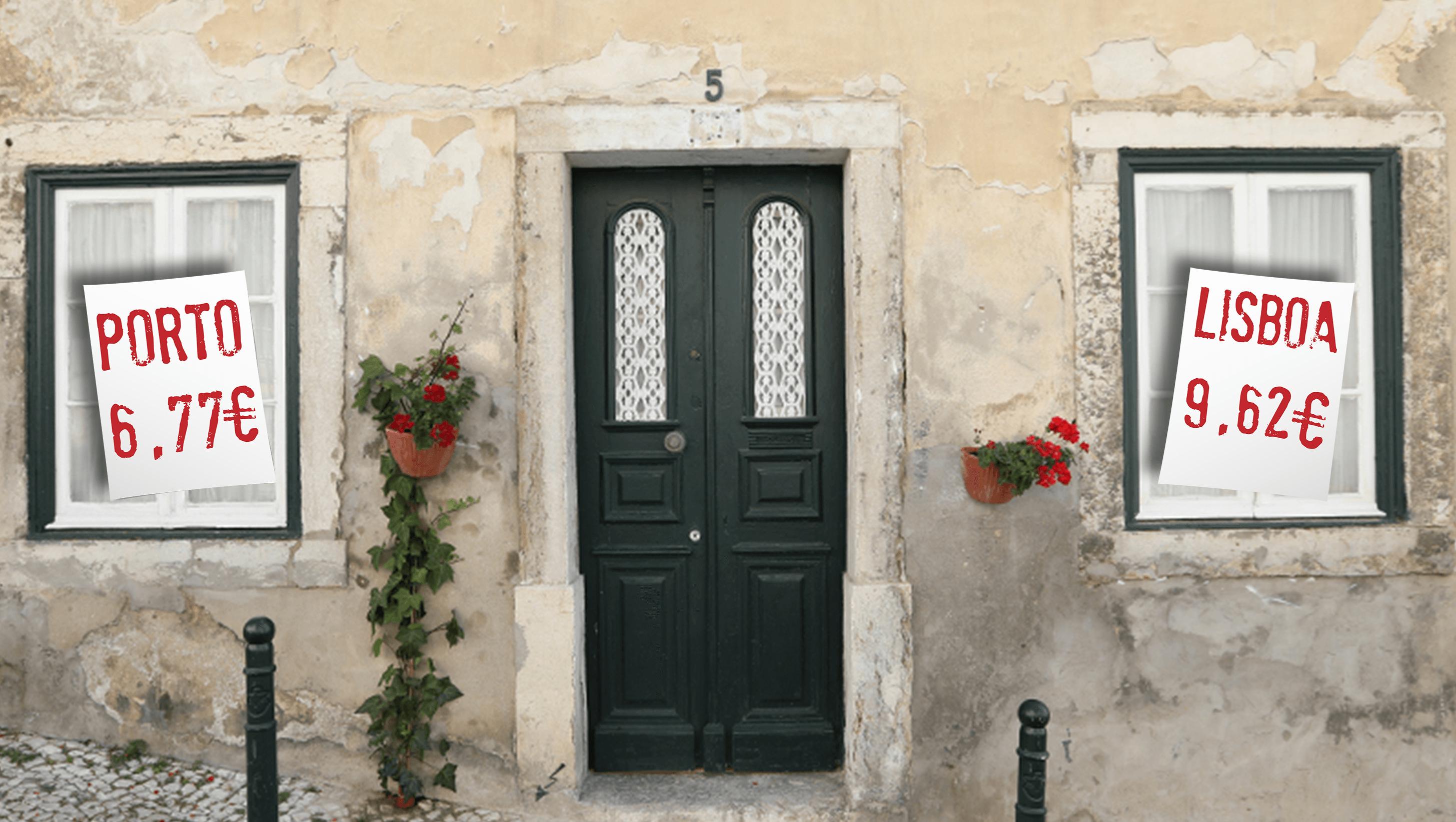 bd6fa2c67 Arrendar uma casa em Portugal tem um custo mediano de 4,39 euros por metro  quadrado, mas os preços variam muito de região para região.