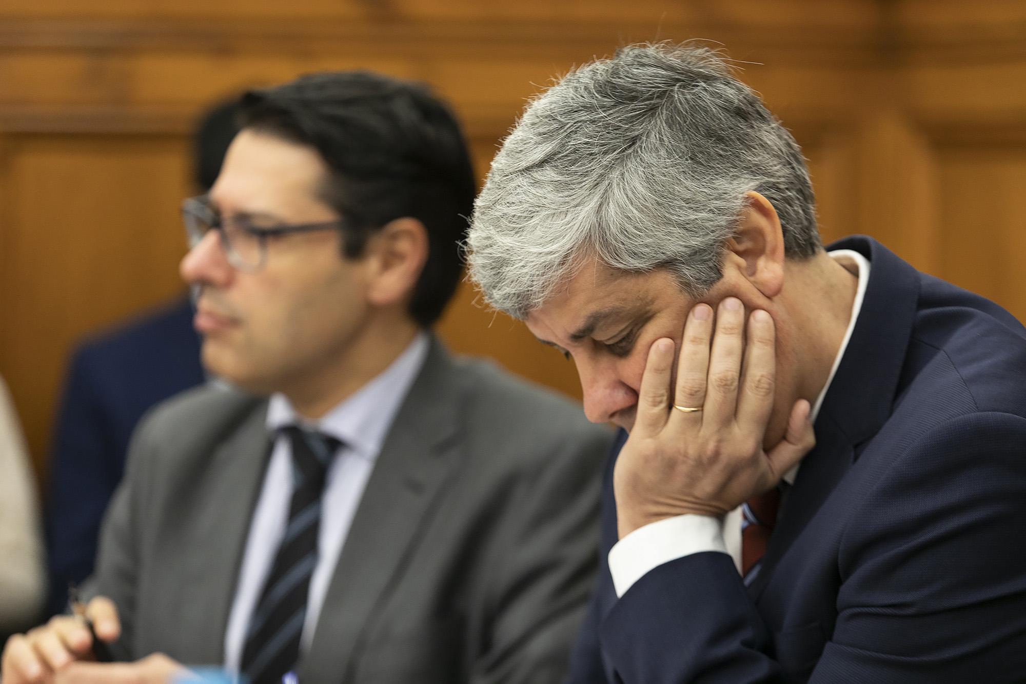 O ministro das Finanças Mário Centeno em audição sobre a gestão da CGD - 30JAN19