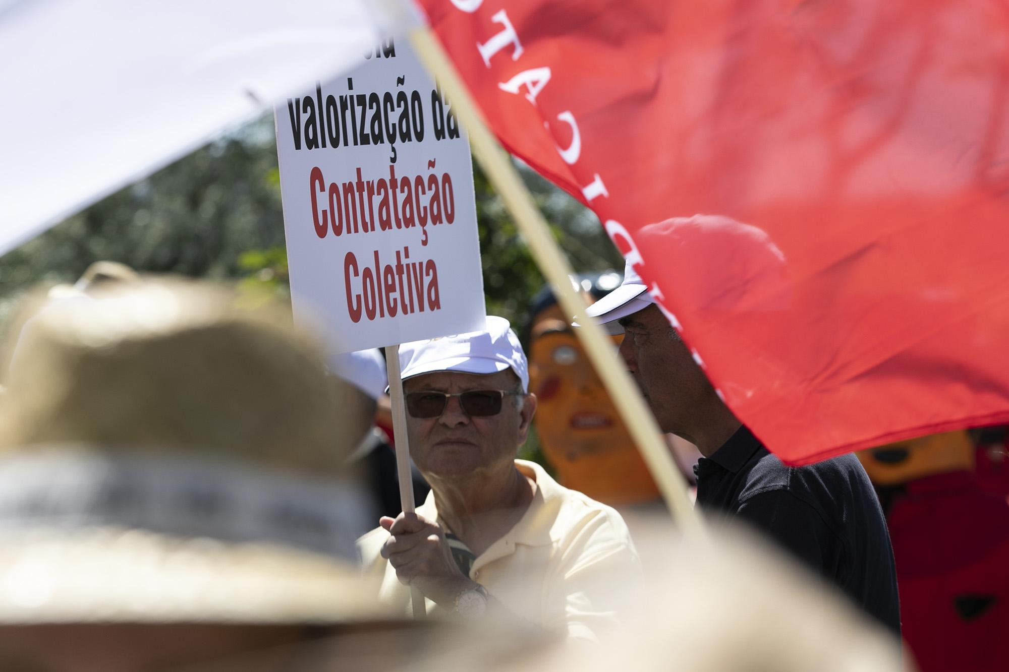 Manifestação de trabalhadores e reformados do Millennium BCP, no Taguspark - 22MAI19