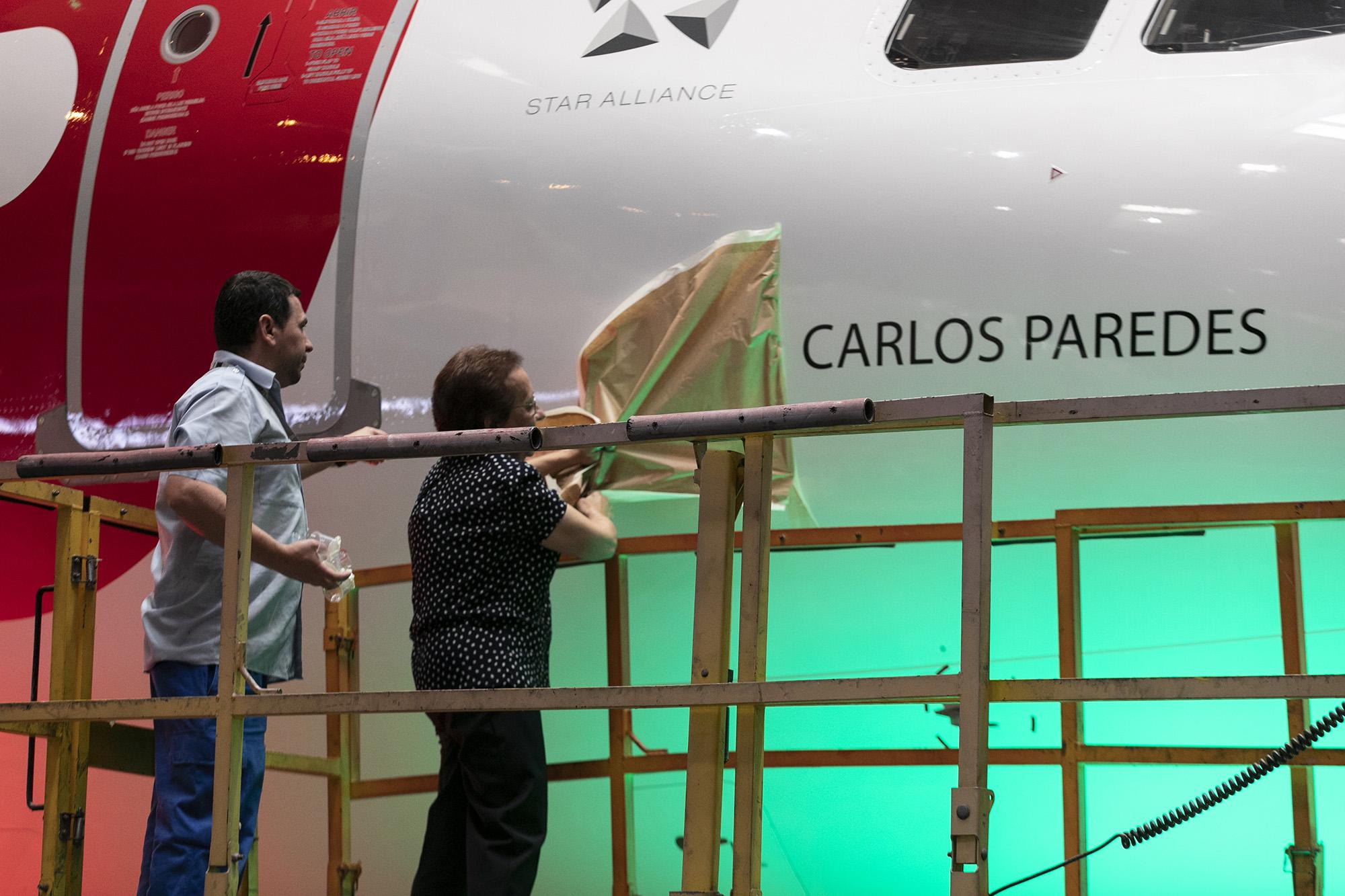 Cerimónia de batismo do avião da TAP A320neo Carlos Paredes - 23JUL19