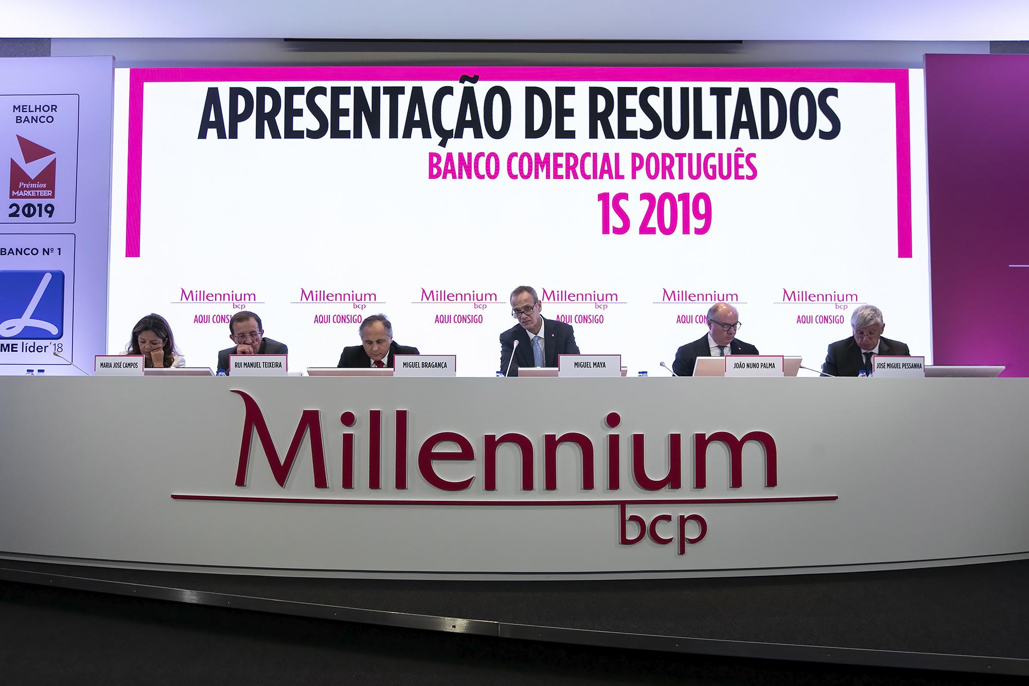 Apresentação de resultados do 1º semestre do Millennium BCP - 29JUL19