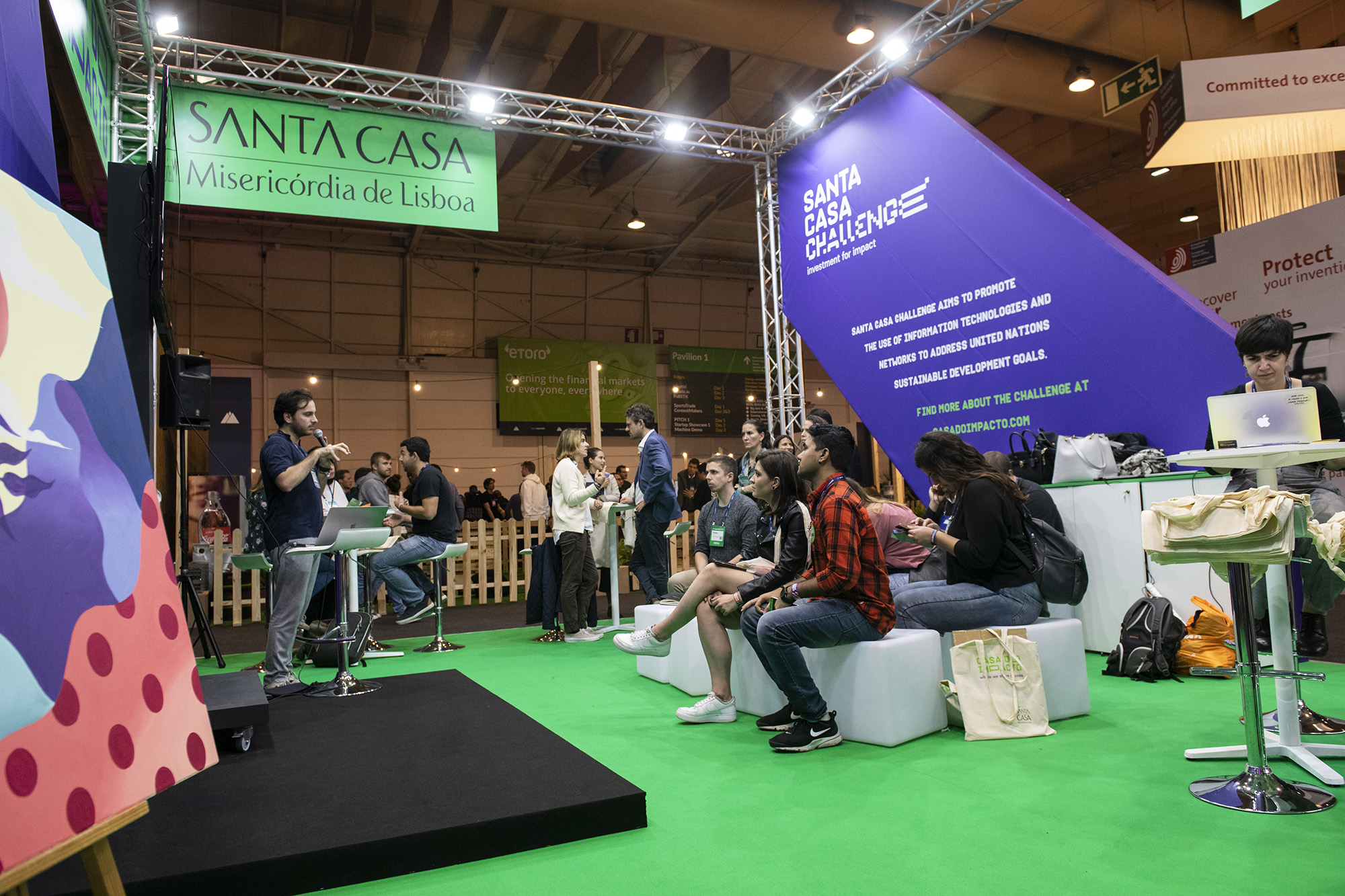 Stand da SCML/Casa do Impacto no Web Summit 2019 - 06NOV19