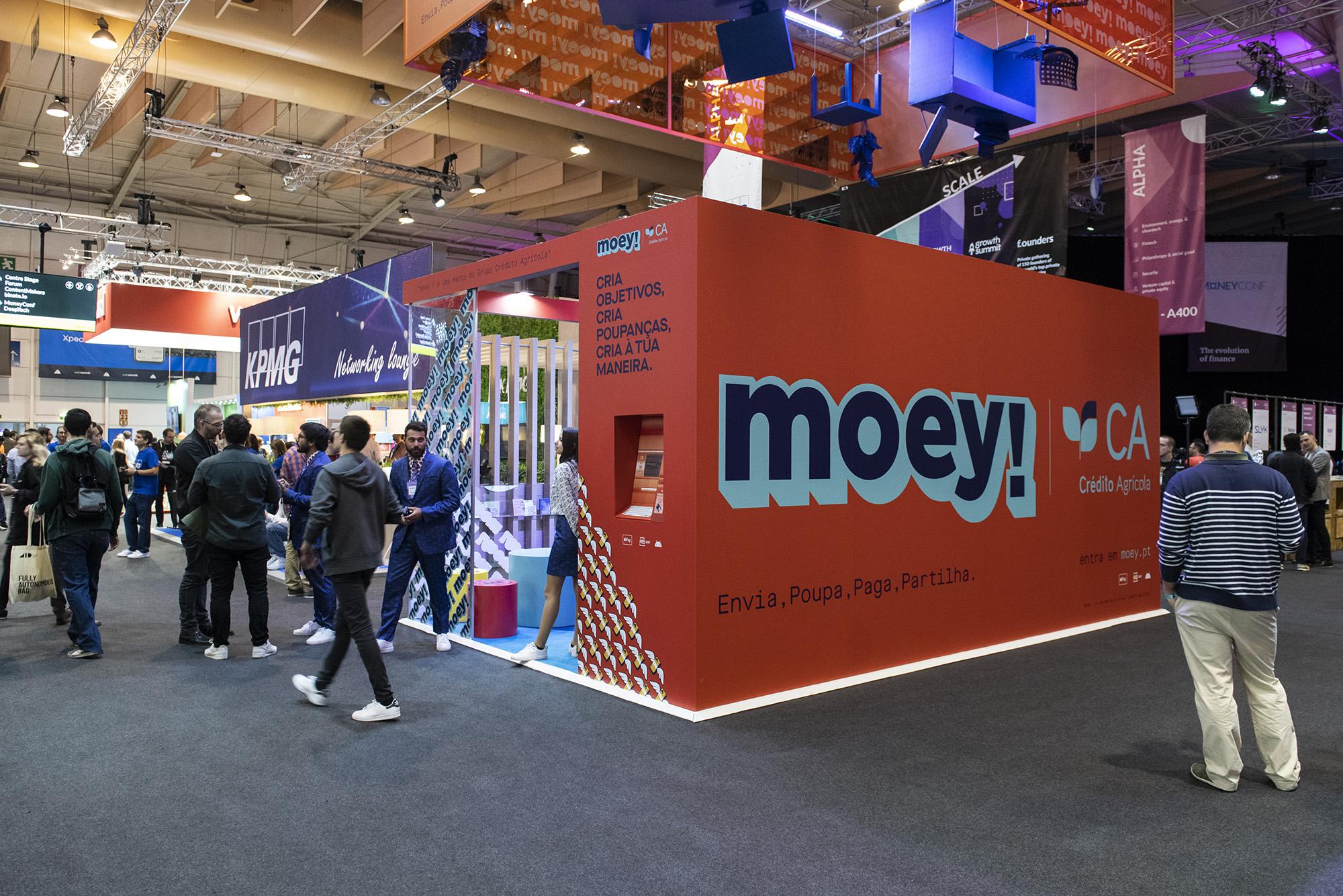Stand da Moey/Crédito Agrícola no Web Summit 2019 - 06NOV19