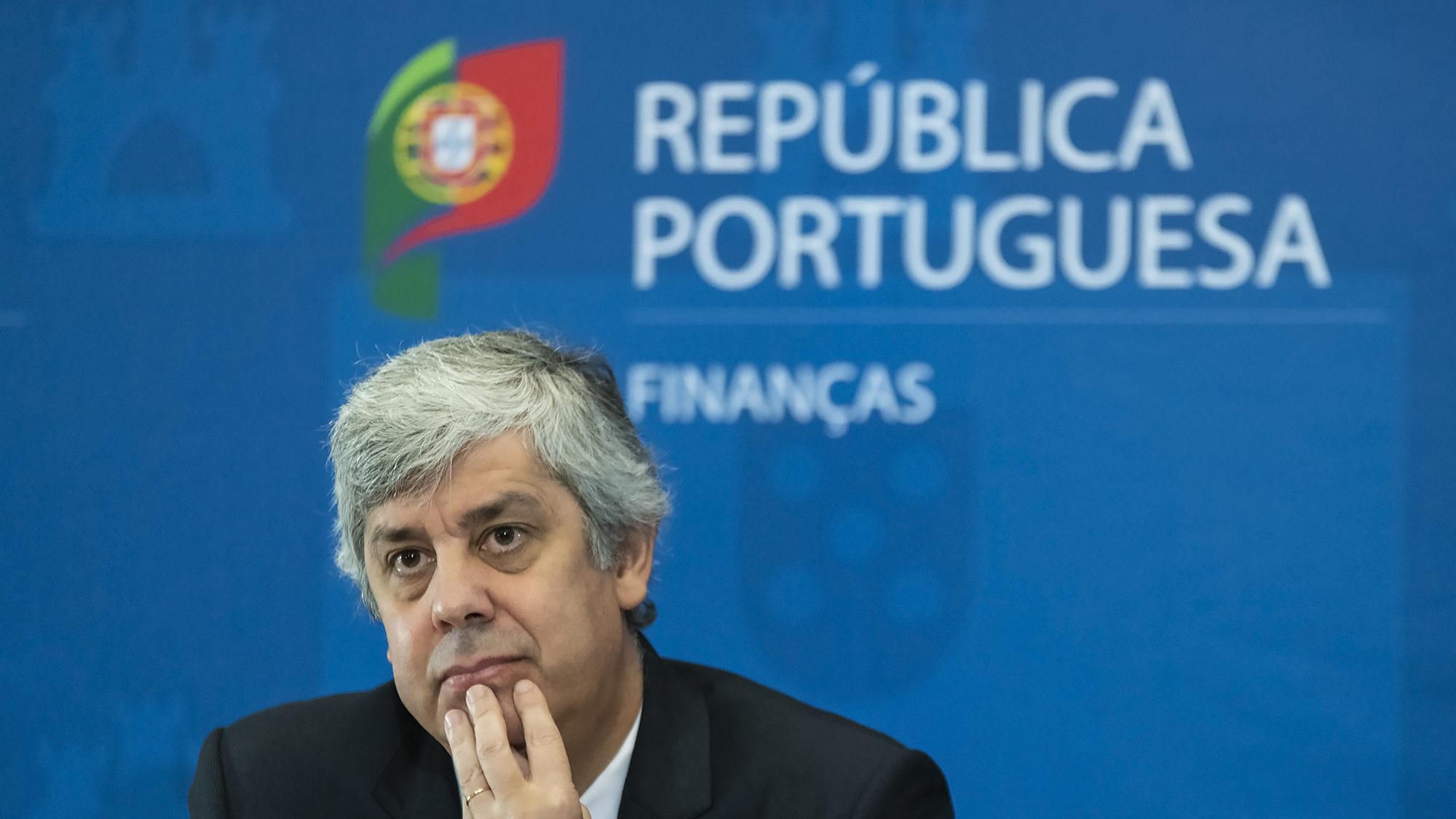 O Ministro das Finanças, Mário Centeno, apresenta em conferência de imprensa o Orçamento do Estado 2020 - 17DEZ19