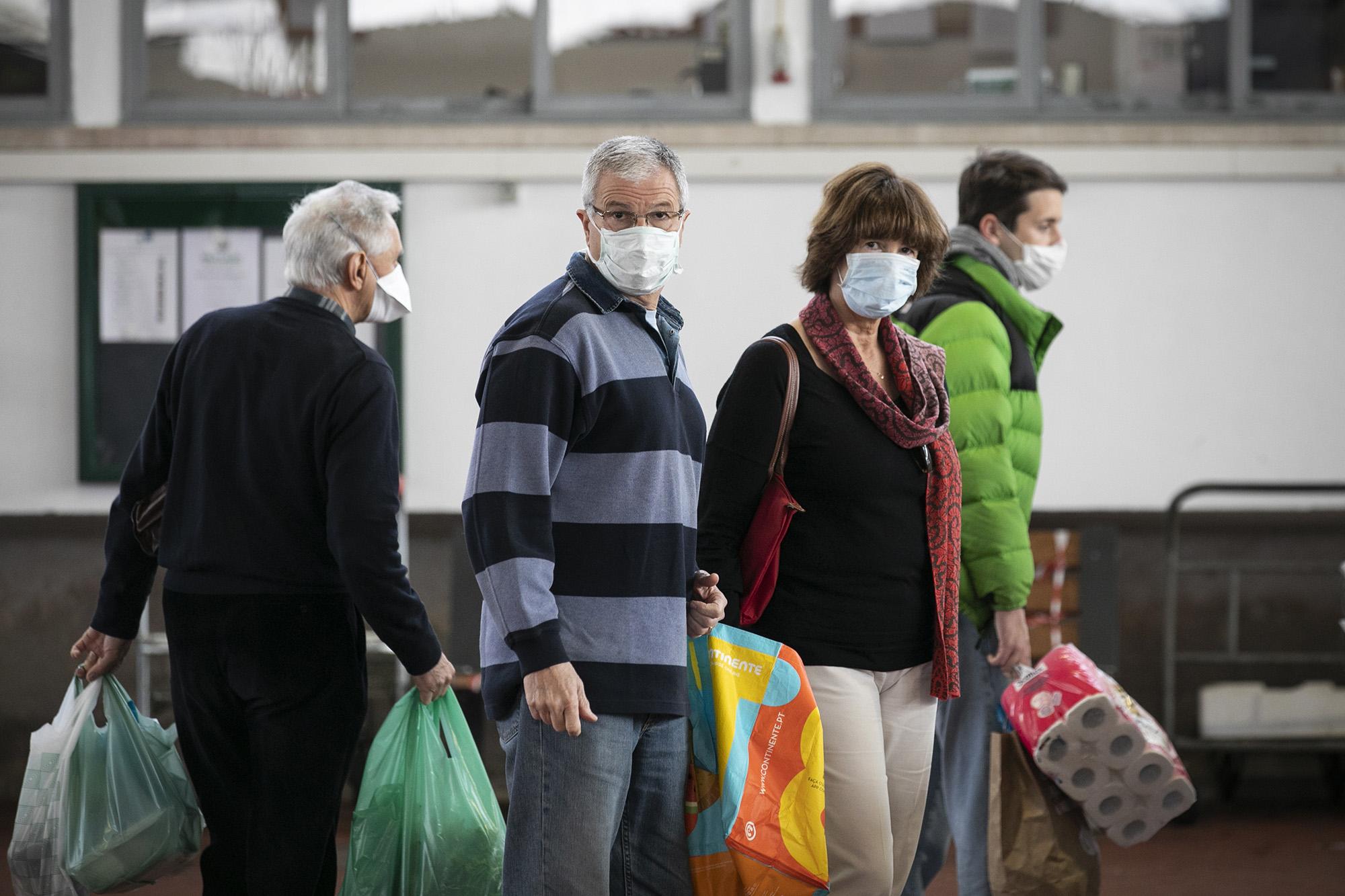 Mercado de Alvalade em tempo de pandemia - 18MAR20