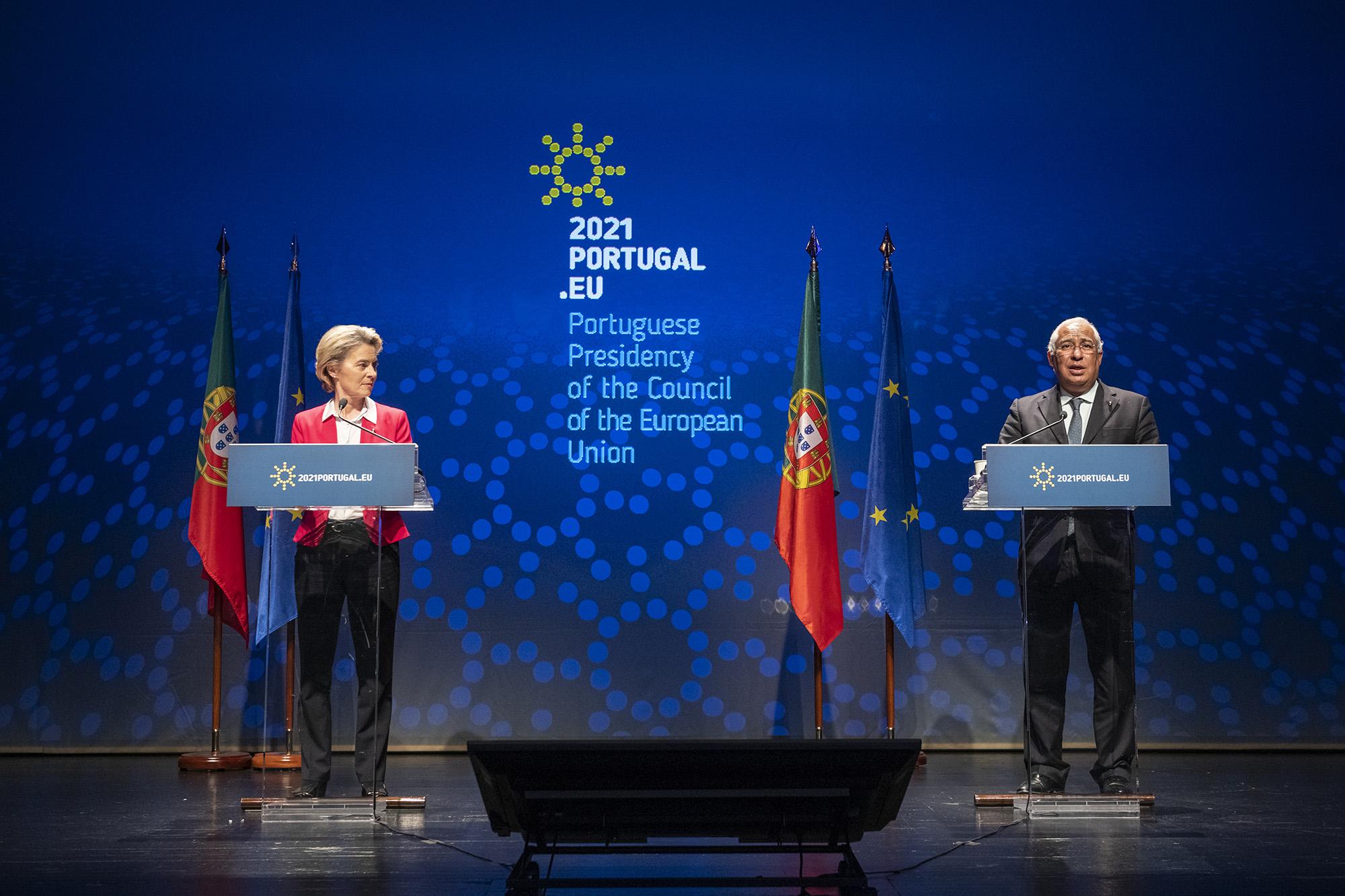 Ursula Von der Leyen visita Lisboa a propósito da Presidência do Conselho Europeu - 15JAN21